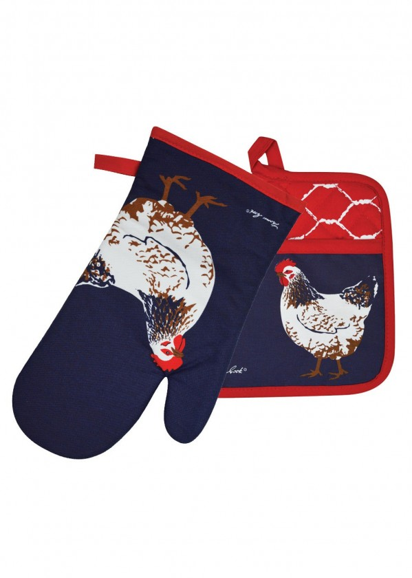 THOMAS COOK OVEN MITT POT HOLDER SET