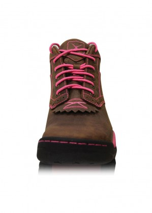 WOMENS PINK RIBBON ALL AROUND LACE UP