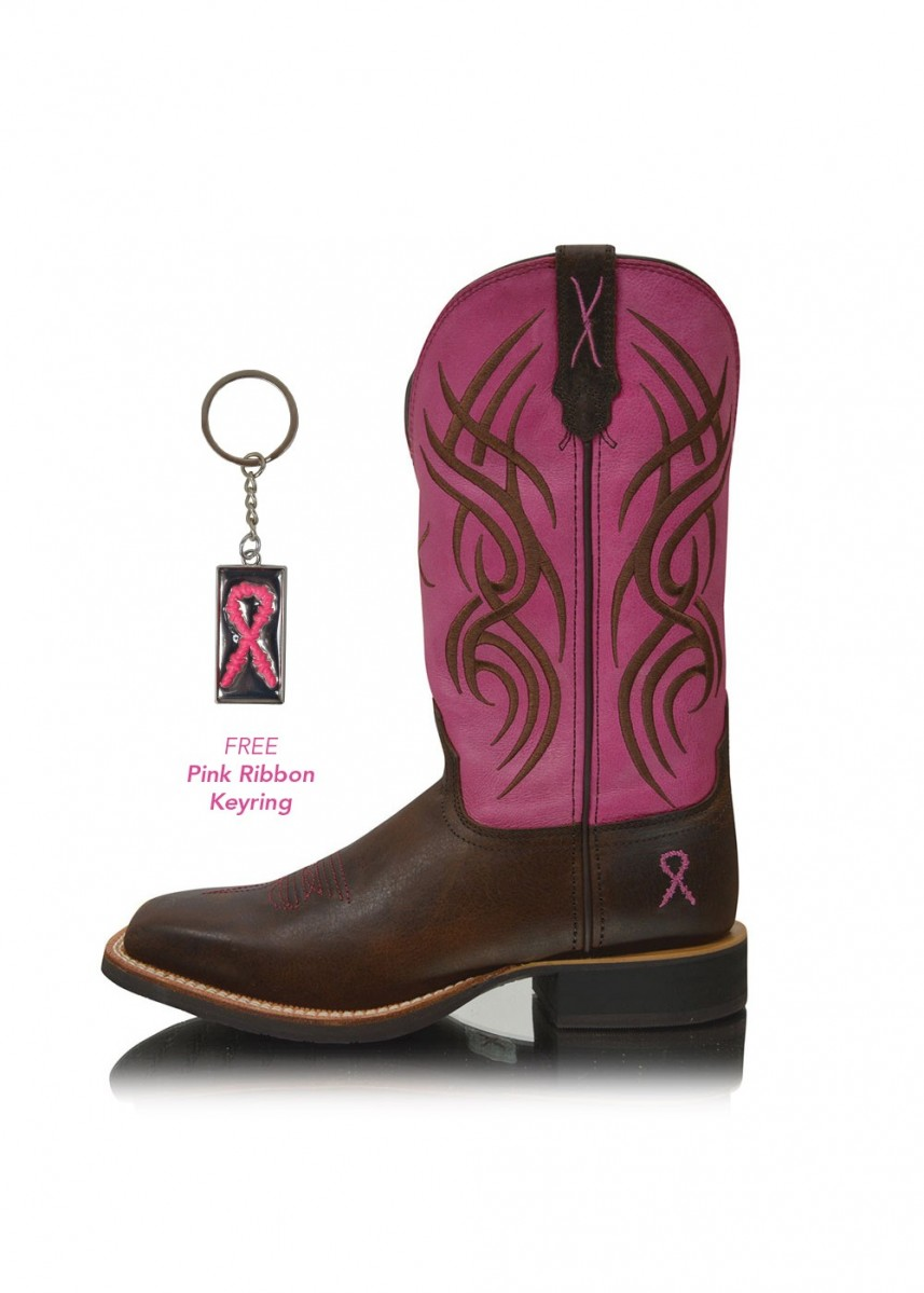 WOMENS PINK RIBBON RUFF STOCK