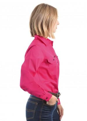WOMENS HALF PLACKET LIGHT COTTON SHIRT