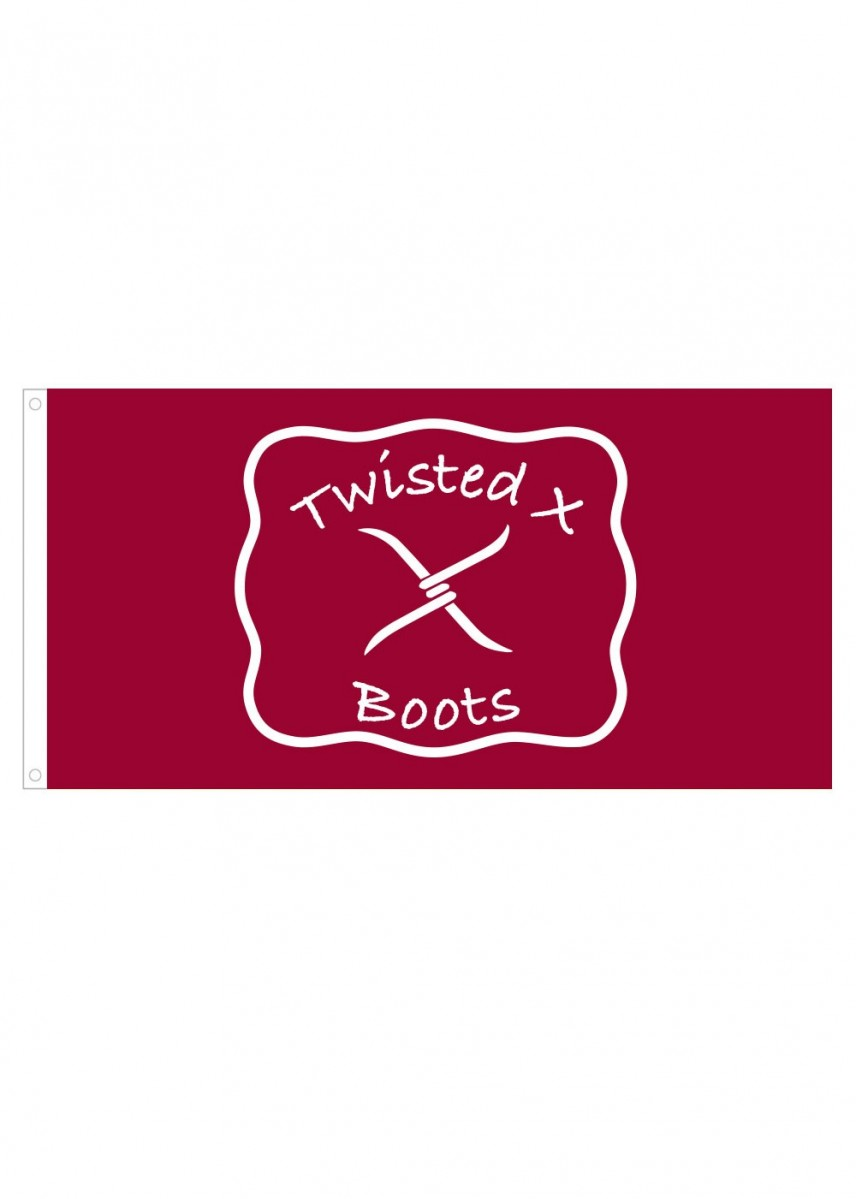 TWISTED X BOOTS LOGO FLAG