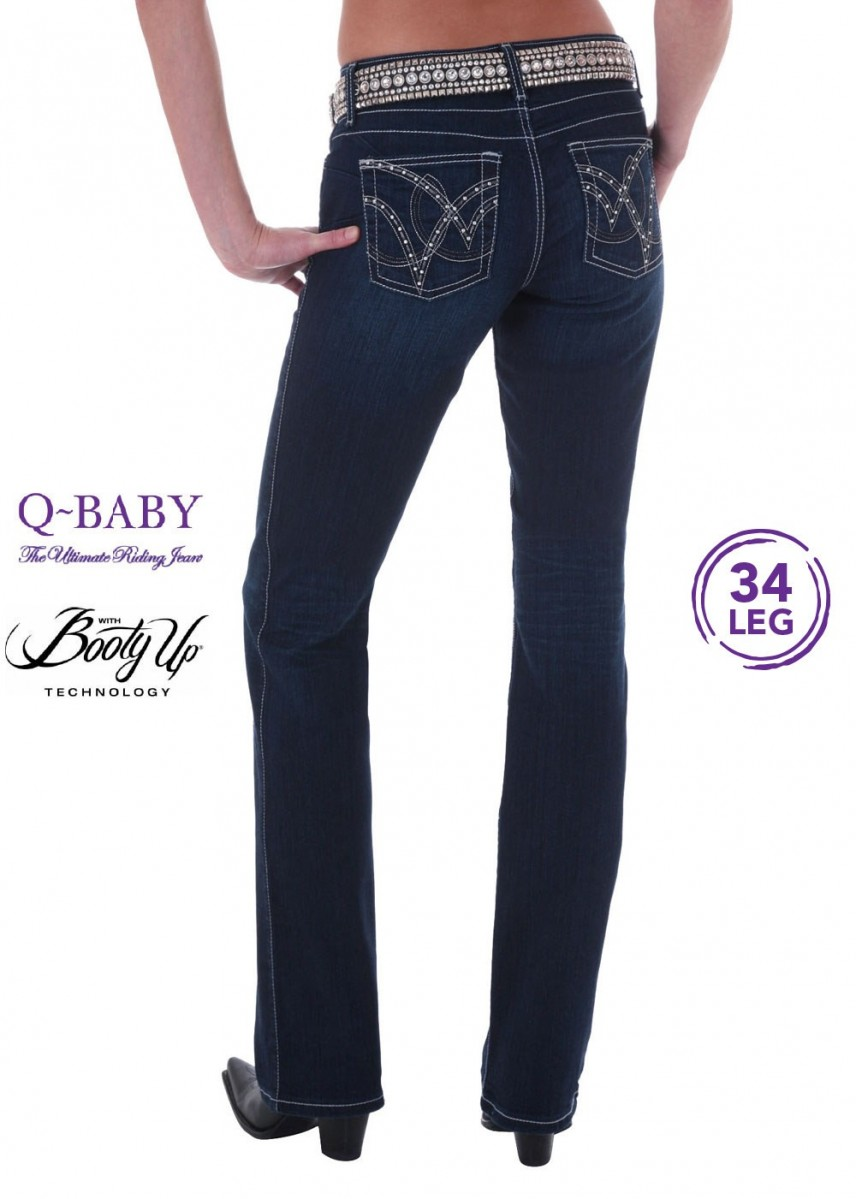 WOMENS ULTIMATE RIDING JEAN 34 LEG - QBABY B/UP