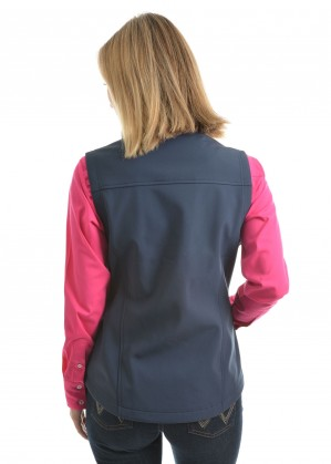 WOMENS LOGO SOFTSHELL VEST