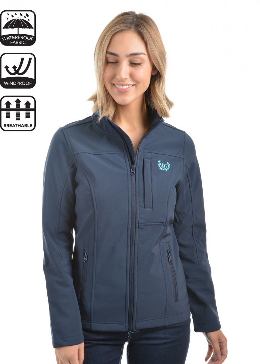 WOMENS LOGO SOFT SHELL JACKET
