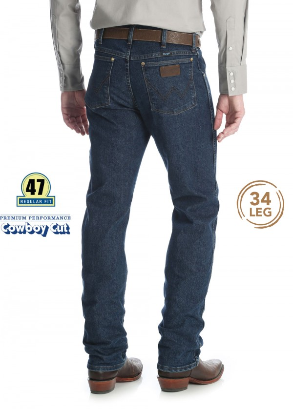 MENS PREMIUM PERFORMANCE COWBOY CUT CV REG FIT JEAN 34 LEG