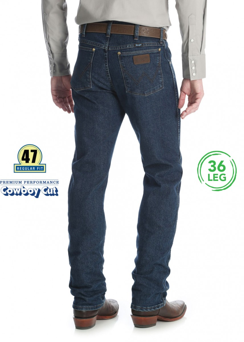 MENS PREMIUM PERFORMANCE COWBOY CUT CV REG FIT JEAN 36 LEG