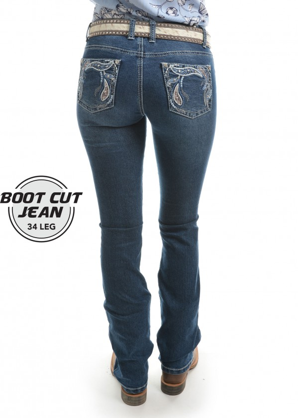WOMENS ELORA BOOT CUT JEAN - 34 LEG