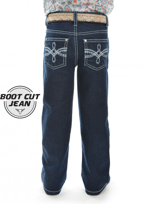 GIRLS DEMI BOOT CUT JEAN
