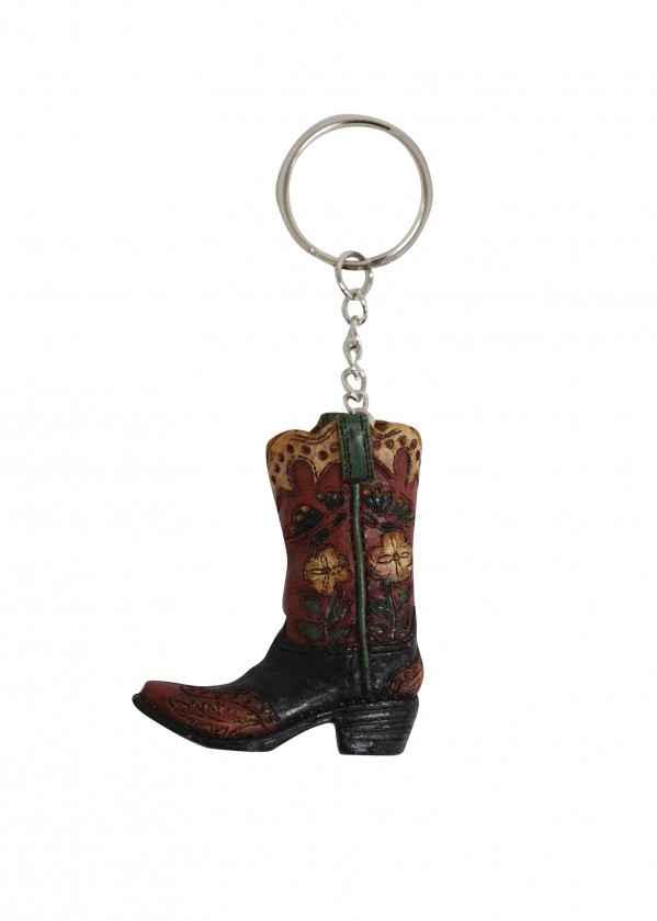 BOOT BUTTERFLY & FLOWER KEY CHAIN