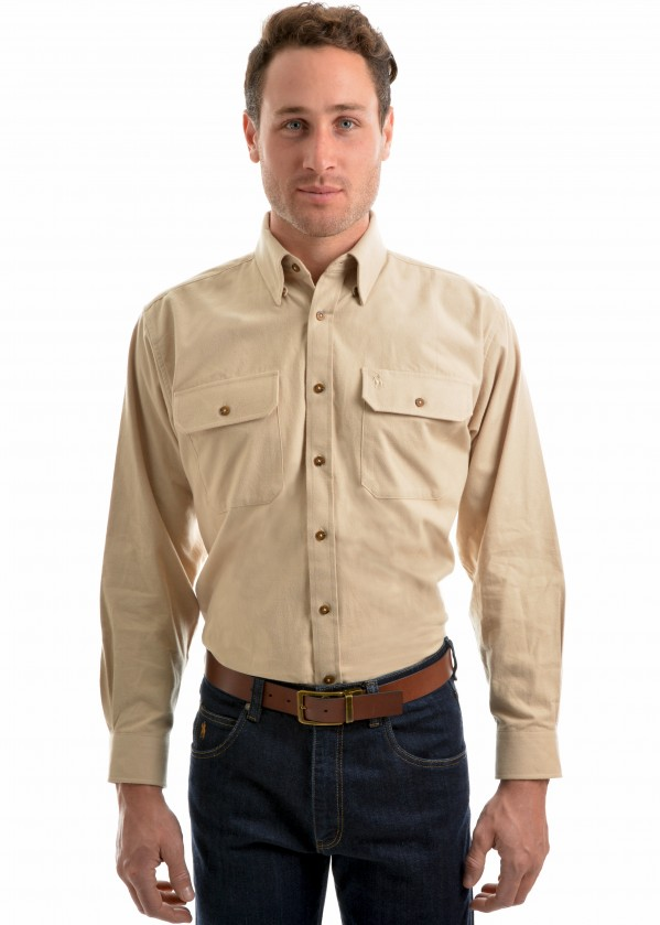 MENS BRUSHED MOLESKN 2-POCKETS L/S SHIRT