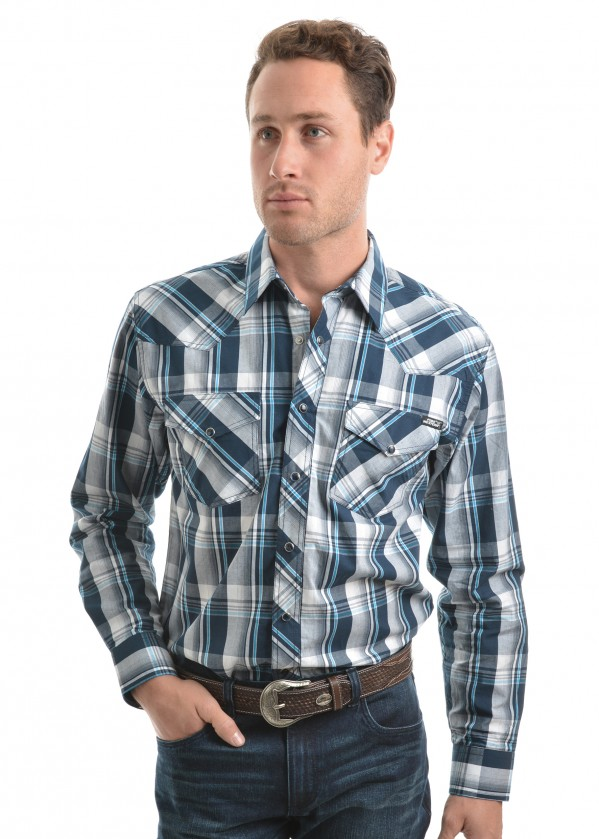 MENS PRESTON CHECK L/S SHIRT