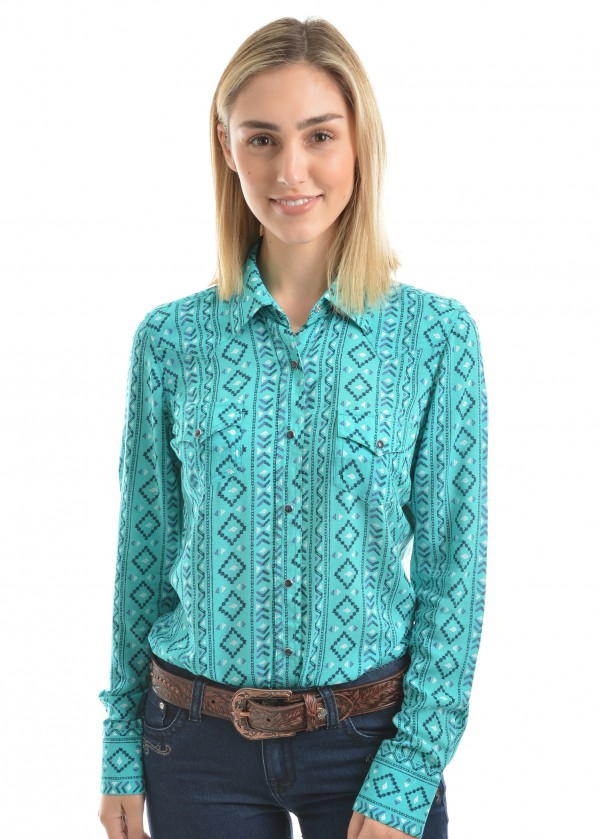 WOMENS DESIREE PRINT L/S SHIRT