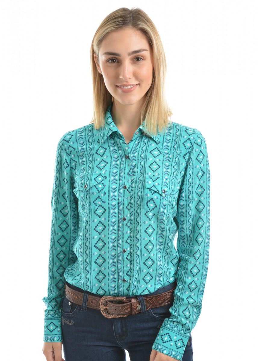 WMNS DESIREE PRINT L/S SHIRT