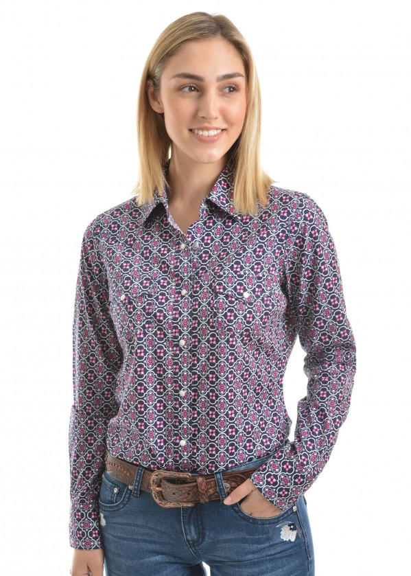 WOMENS ABBY PRINT L/S SHIRT