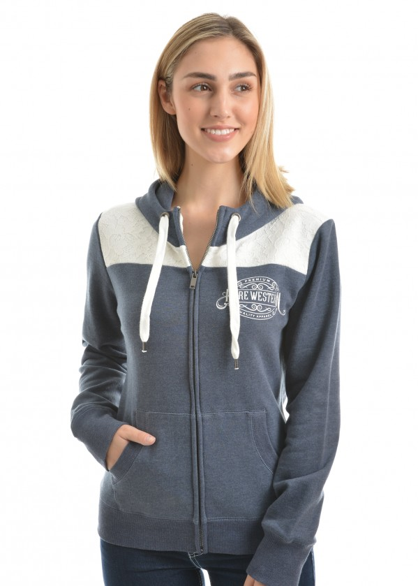 WOMENS MORGAN ZIP UP HOODIE