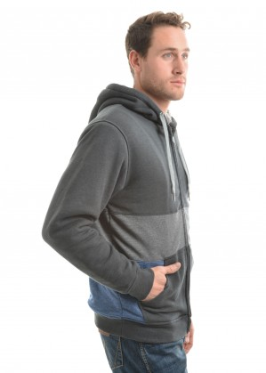 MENS TORREN SPLICE ZIP UP HOODIE