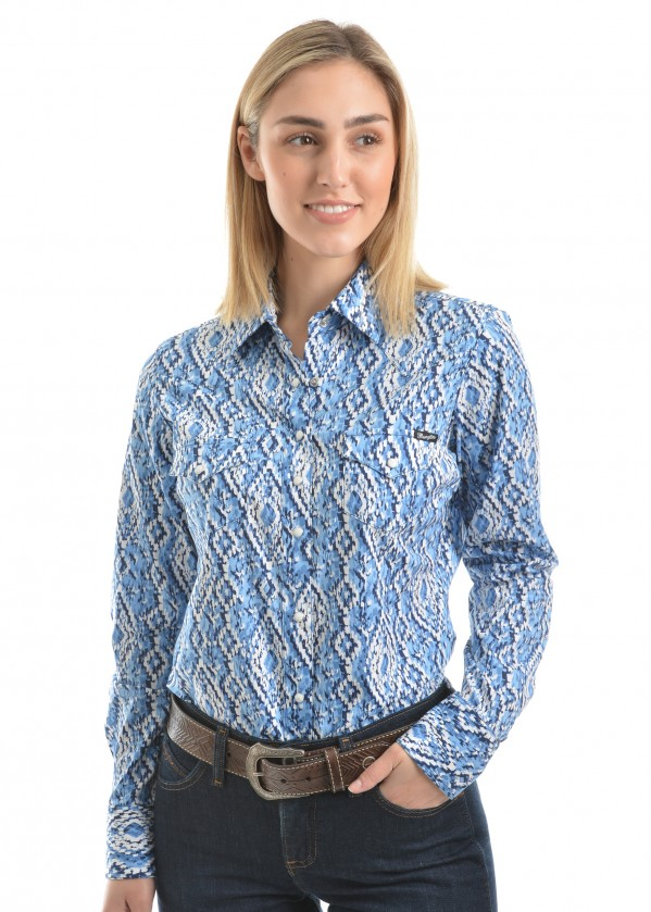 WOMENS FRANCES PRINT L/S SHIRT