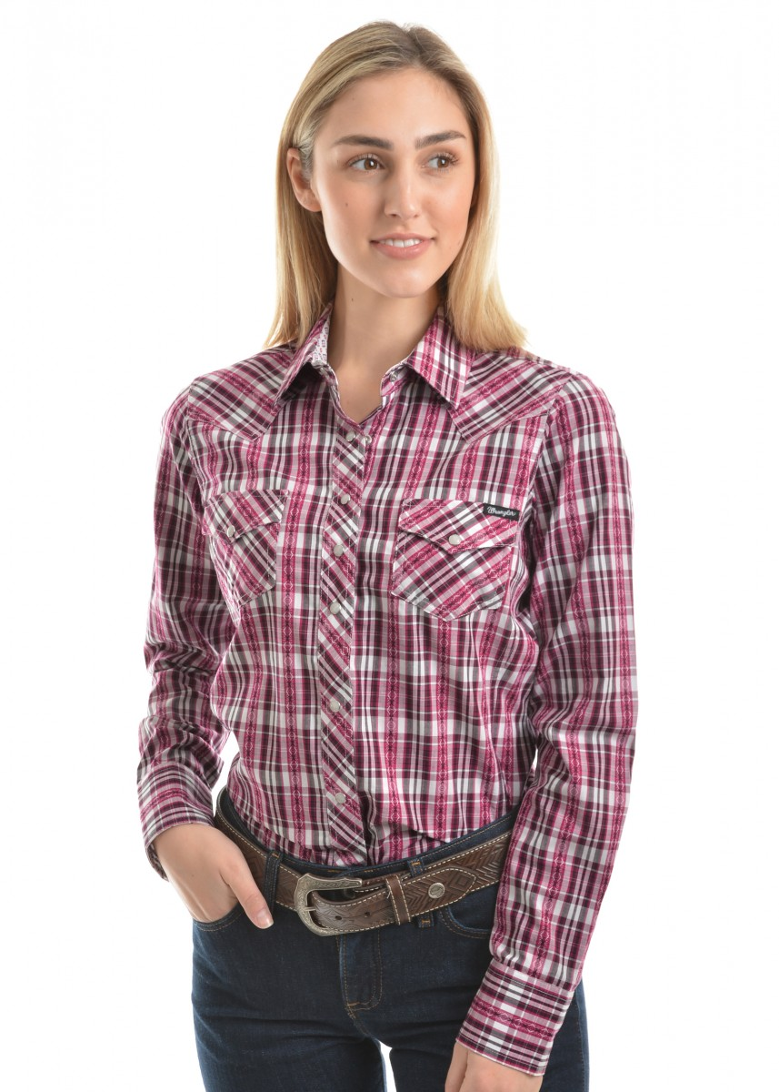 WOMENS MAGGIE CHECK L/S SHIRT