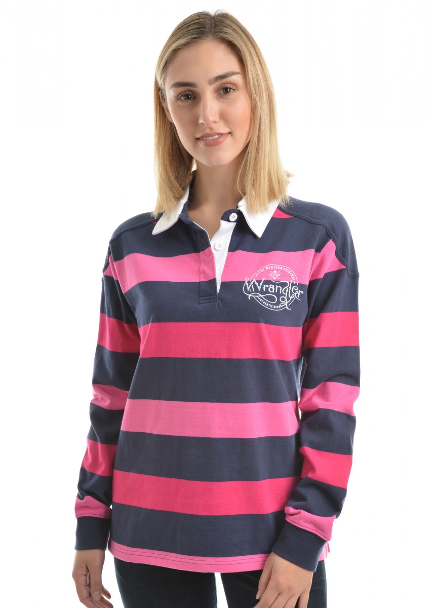 WOMENS PHOEBE STRIPE RUGBY