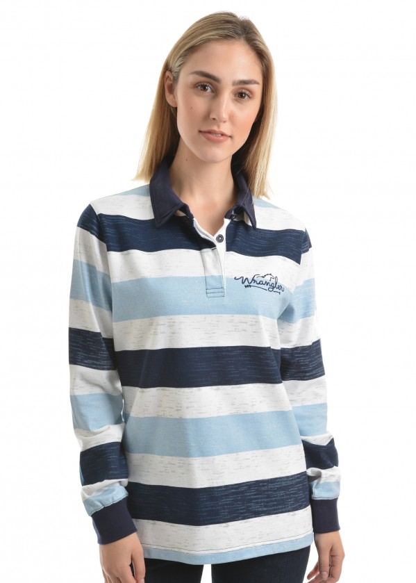 WOMENS AVALON STRIPE RUGBY