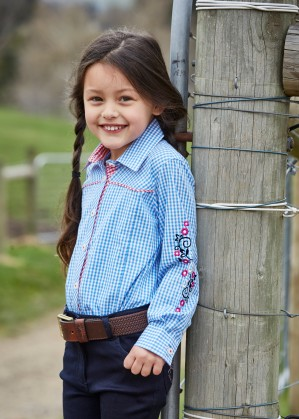 GIRLS DOROTHY CHECK L/S SHIRT