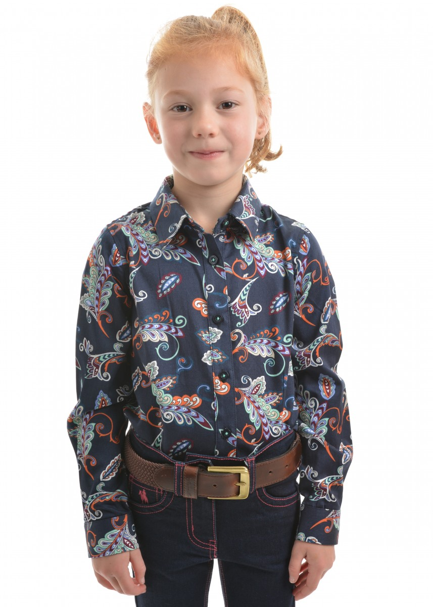 GIRLS ELLANE PRINT L/S SHIRT