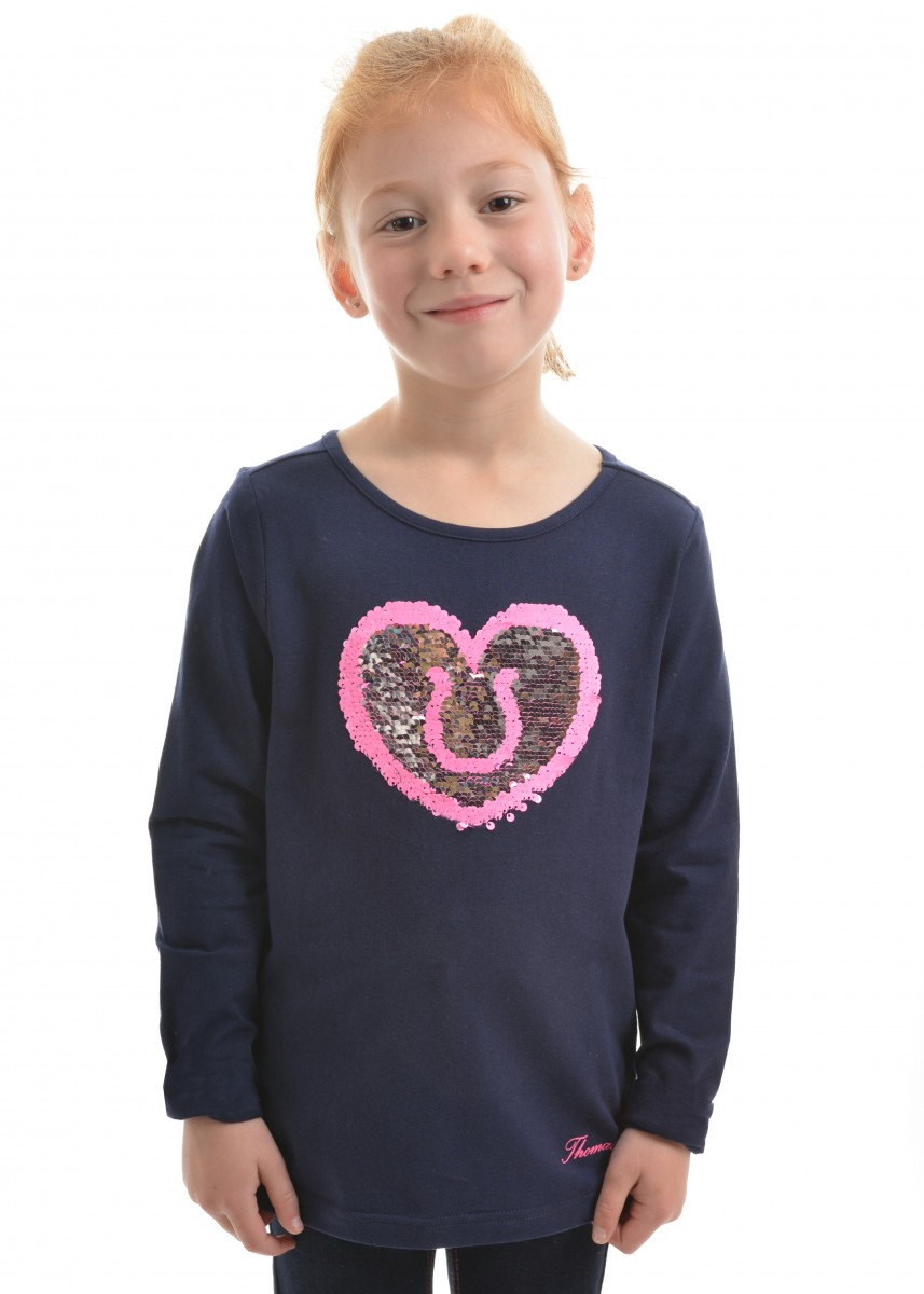 GIRLS REVERSIBLE SEQUIN L/S TOP