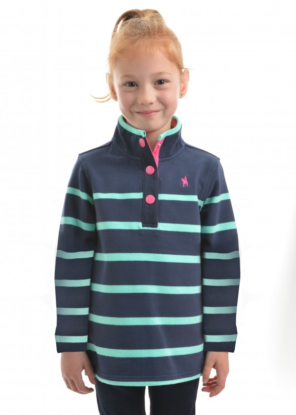 GIRLS CAMILLA STRIPE SNAP RUGBY