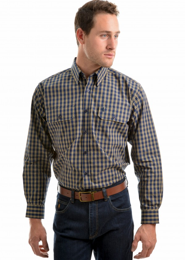 MENS SMITHTON CHECK 2-PKT L/S SHIRT