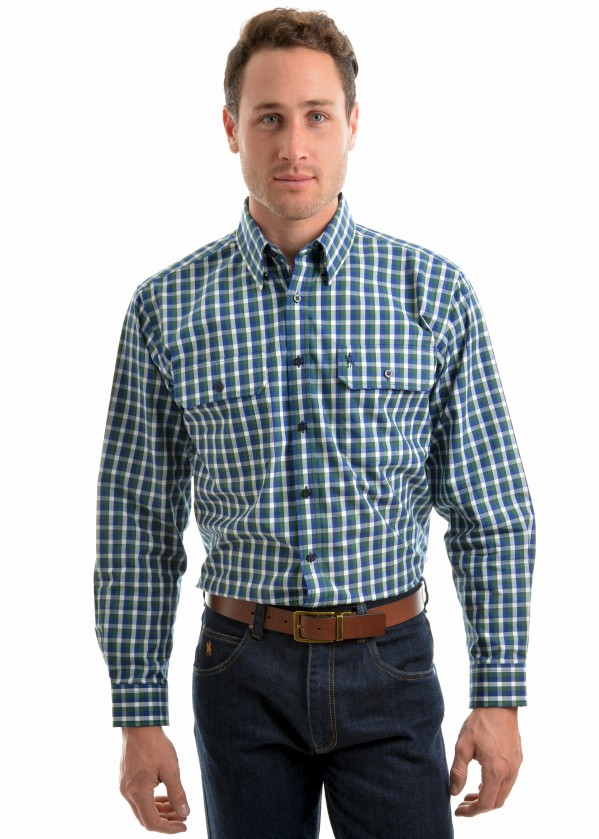 MENS BEAUFORT CHECK 2-PKT L/S SHIRT