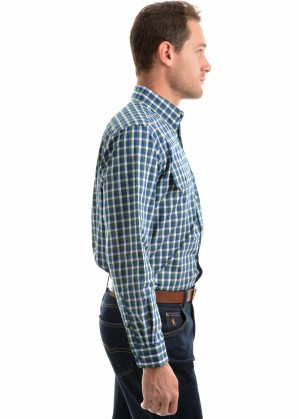 MENS BEAUFORT CHECK 2-POCKETS L/S SHIRT