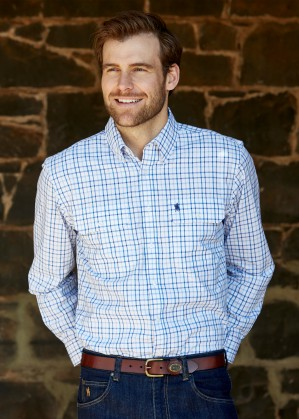 MENS FINLEY CHECK 2-POCKETS L/S SHIRT