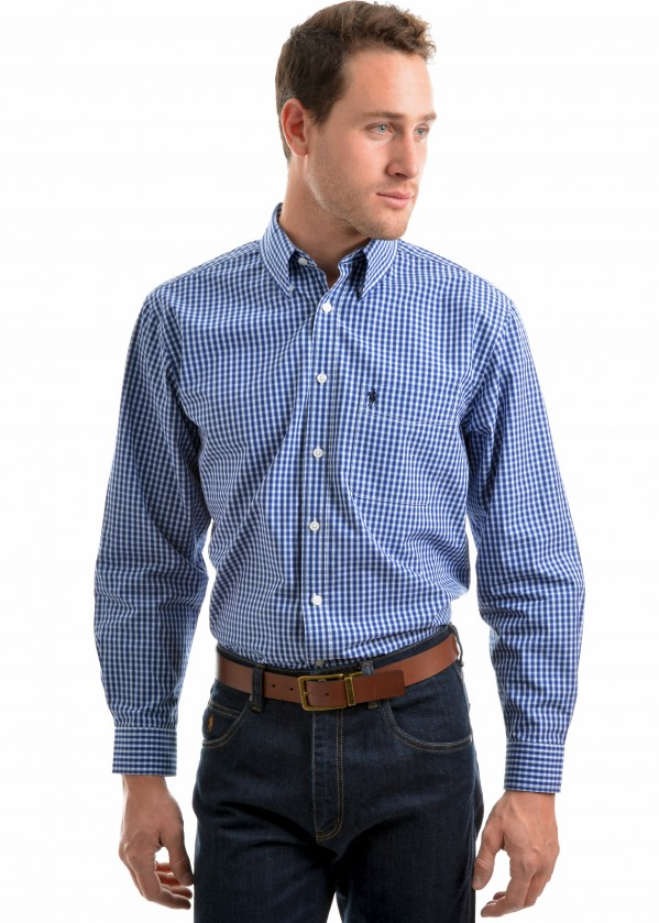 MEN TUMBARUMBA CHECK 1-PKT L/S SHIRT