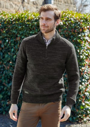MENS MOREE 1/4 ZIP NECK KNIT JUMPER
