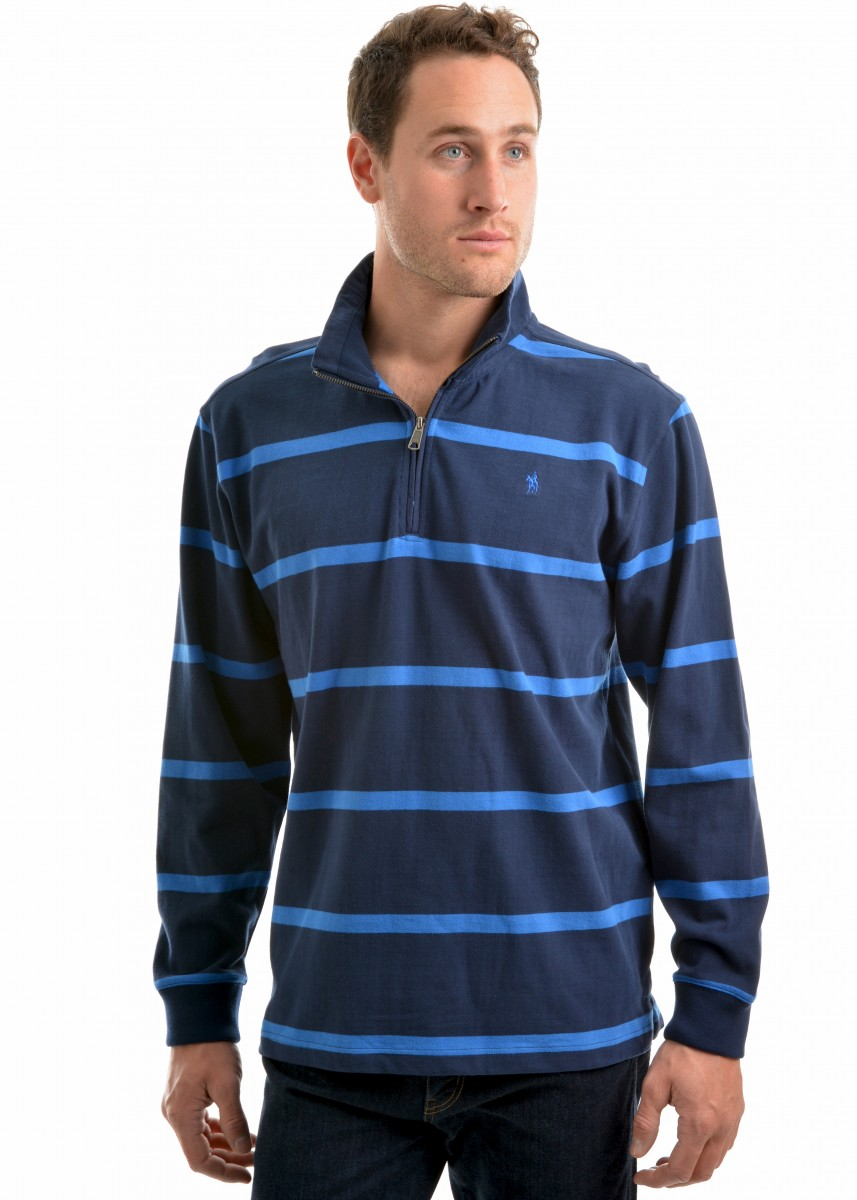 MENS WILMINGTON STRPE MERINO BLEND RUGBY