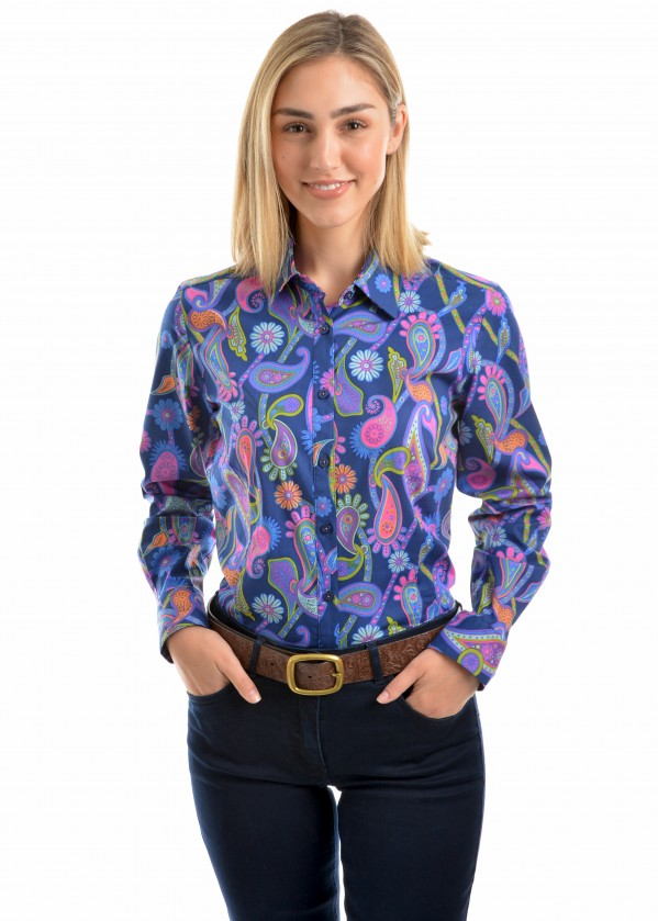 WOMENS STEPHANIE PRINT L/S SHIRT