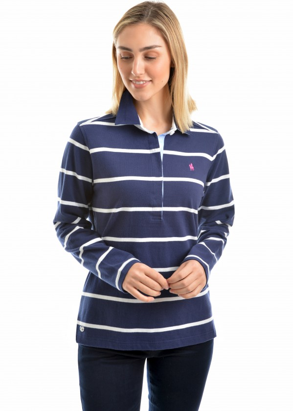 WOMENS GILLIAN STRIPE RUGBY