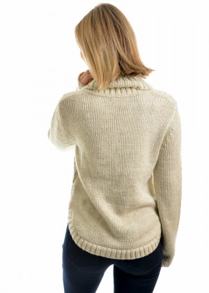 WOMENS CURVED HEM CABLE JUMPER