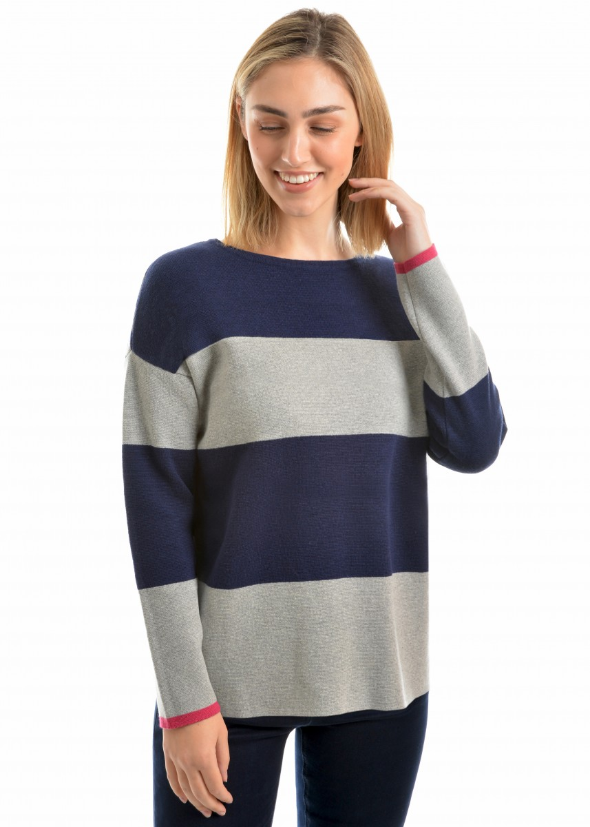 WMNS BLOCK STRIPED JUMPER