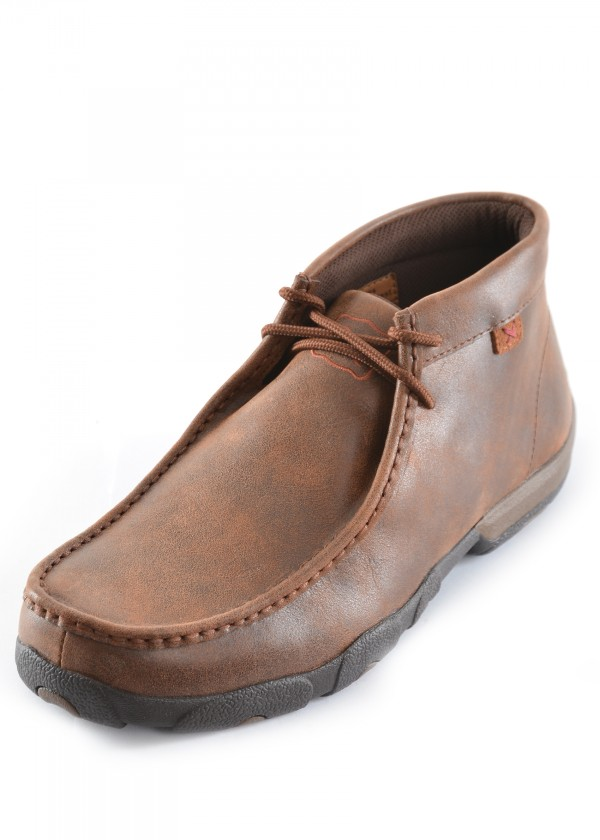 MENS CASUAL DRIVING MOCS HIGH LACE UP