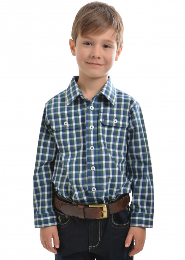 BOYS BEAUFORT CHECK 2-PKT L/S SHIRT