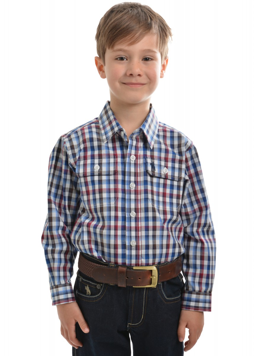 BOYS MITCHELL CHECK 2-PKT L/S SHIRT