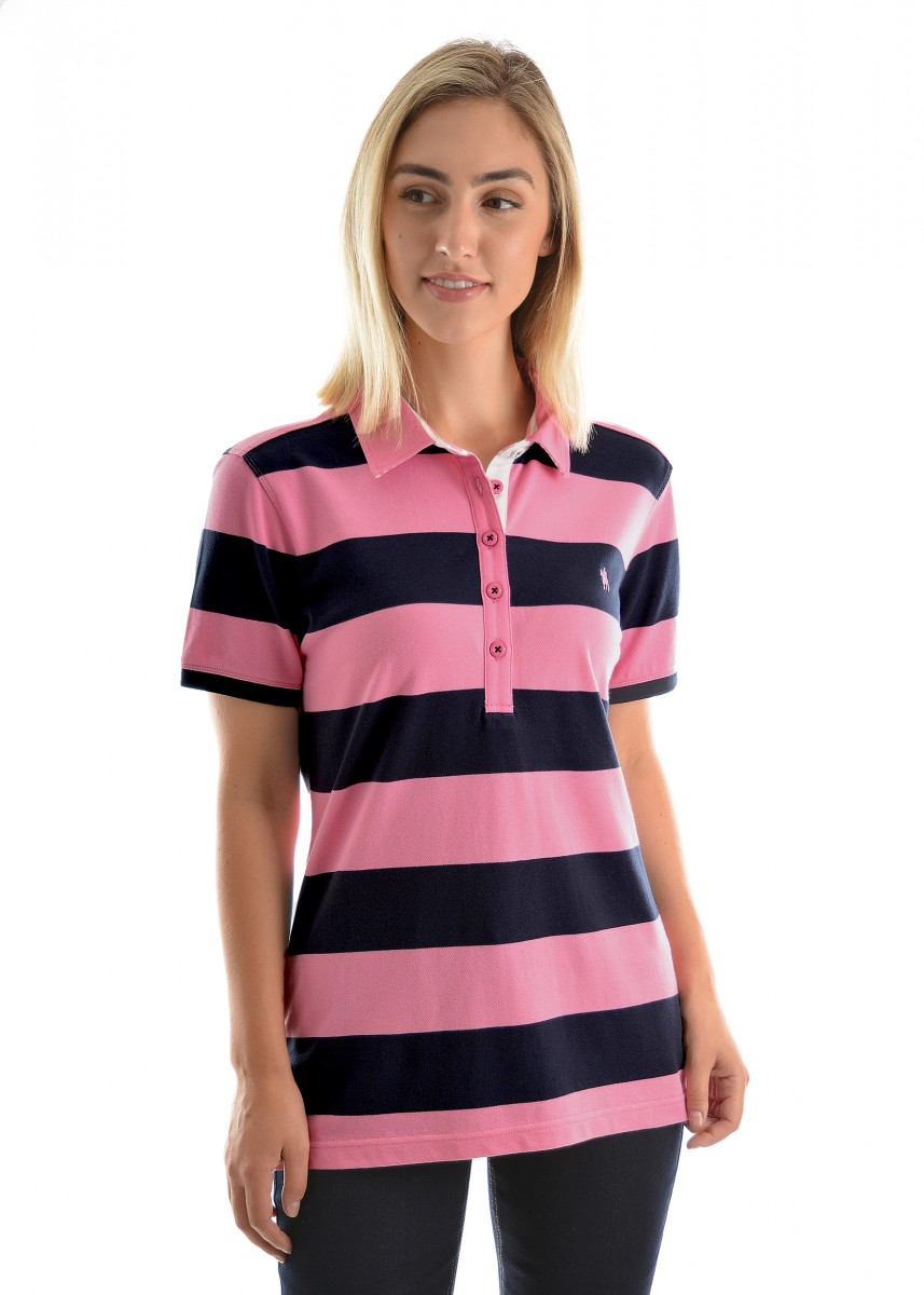 WOMENS RACHEL STRIPE S/S POLO