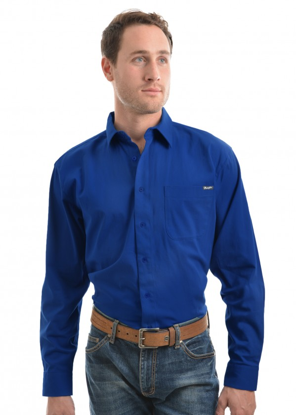 MENS BARRINGTON DRILL L/S SHIRT