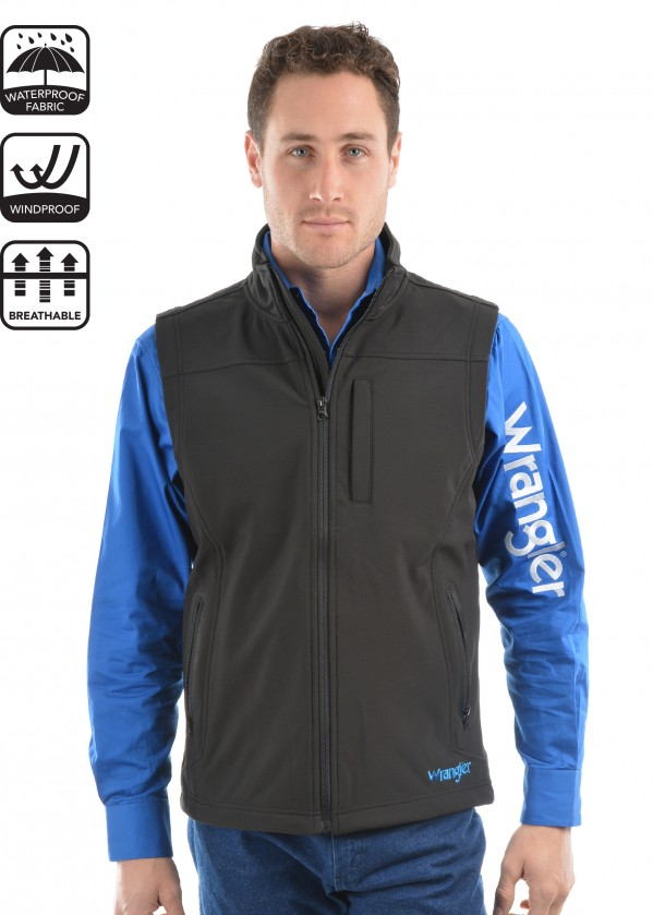 MENS LOGO SOFT SHELL VEST