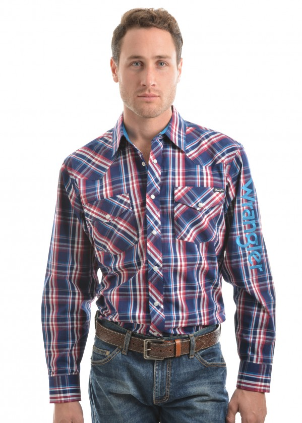 MENS LOGO STIRLING CHECK L/S SHIRT