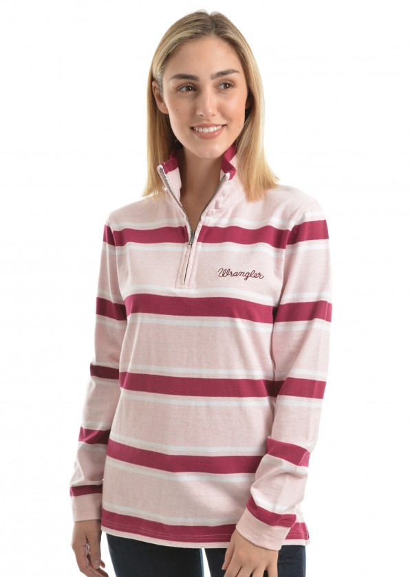 WOMENS NAYA STRIPE RUGBY