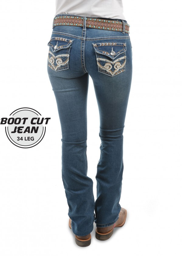 WOMENS BRANDY BOOT CUT JEAN - 34 Inch Leg