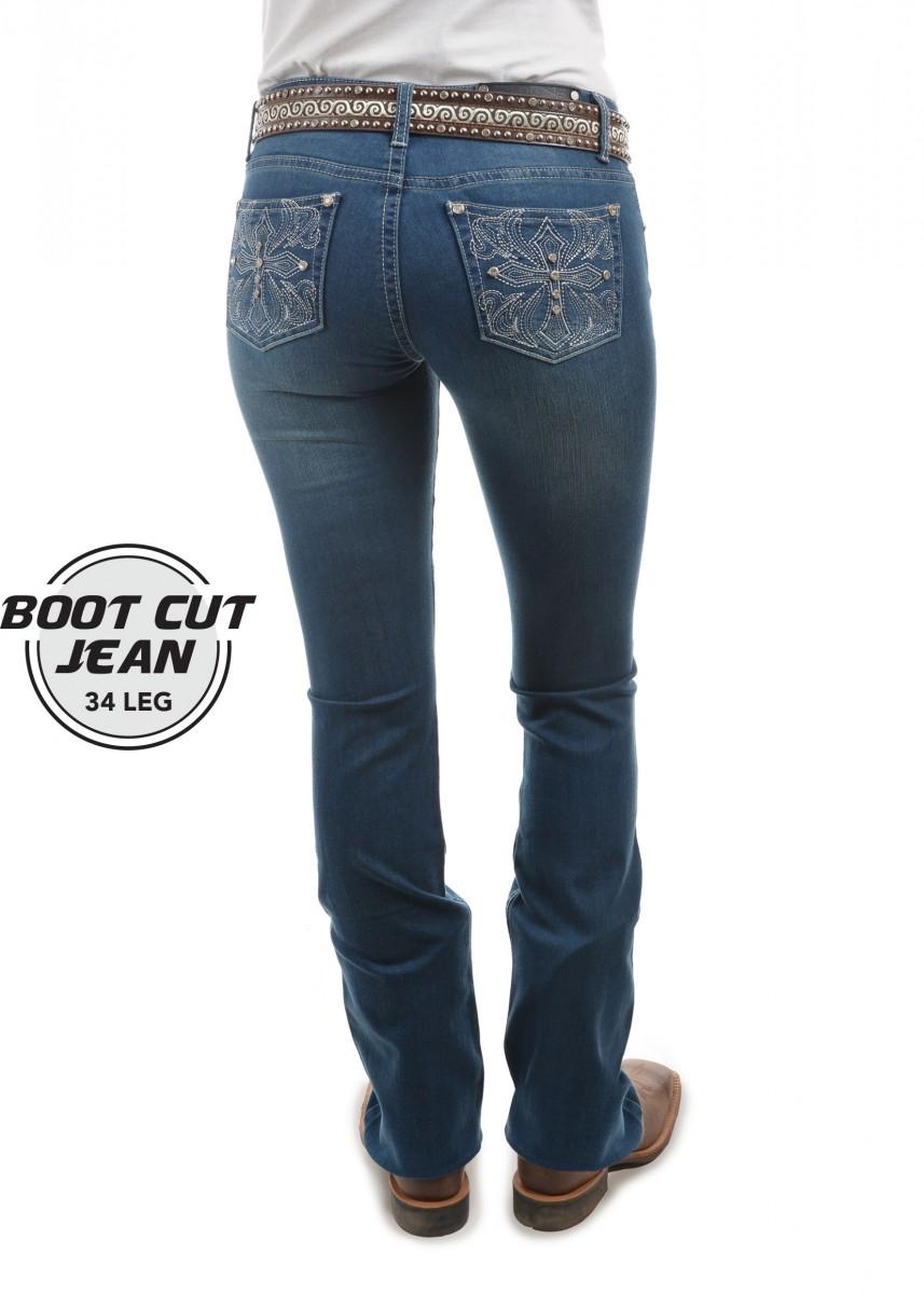 WOMENS BELLA BOOT CUT JEAN - 34 Inch Leg