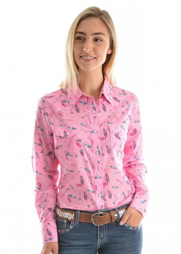 WOMENS LILLIAN PRINT L/S SHIRT